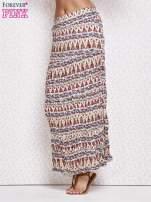 Biała letnia spódnica maxi we wzory etno