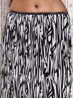 Biała plisowana spódnica midi z brokatem                                                                          zdj.                                                                         2