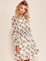 Biała sukienka z printem                                  zdj.                                  1