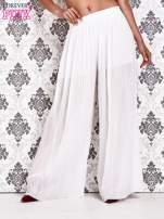 Białe plisowane spodnie palazzo                                                                           zdj.                                                                         1