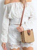 Białe szorty Crochet                                  zdj.                                  1
