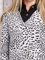 Biało-czarna dwuczęściowa koszula z motywem panterki                                  zdj.                                  6