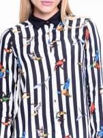 Biało-czarna pasiasta koszula w ptaszki                                                                          zdj.                                                                         7