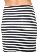 Biało-czarna spódnica maxi w paski                                  zdj.                                  7