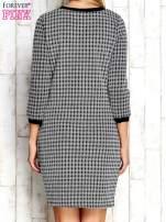 Biało-czarna sukienka motyw plecionki                                  zdj.                                  4