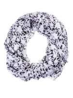 Biało-czarny szal w kwiatuszki
