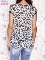 Biało-czarny t-shirt z zwierzęcymi motywami                                  zdj.                                  2