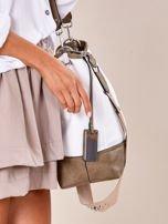 Biało-khaki torba miejska z eko skóry                                  zdj.                                  3