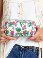 Biało-różowa torba w egzotyczne wzory                                  zdj.                                  10