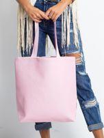 Biało-różowa torba w egzotyczne wzory                                  zdj.                                  2