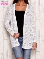 Niebieski melanżowy ażurowy sweter                                                                           zdj.                                                                         1
