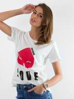 Biały t-shirt Distance                                  zdj.                                  1