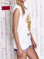 Biały t-shirt MINNIE MOUSE                                  zdj.                                  4