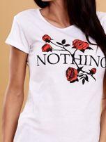 Biały t-shirt damski NOTHING                                  zdj.                                  5