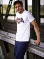 Biały t-shirt męski BATMAN V SUPERMAN