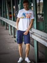 Biały t-shirt męski KACZOR DONALD                                  zdj.                                  11