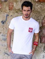 Biały t-shirt męski z godłem                                  zdj.                                  1