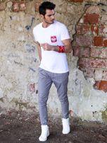 Biały t-shirt męski z godłem                                  zdj.                                  5
