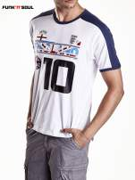 Biały t-shirt męski z napisem ENGLAND Funk n Soul                                  zdj.                                  3