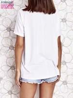 Biały t-shirt oversize                                  zdj.                                  4