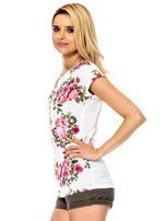 Biały t-shirt w kwiaty                                  zdj.                                  5