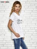 Biały t-shirt w serduszka z napisem MY SWEET HEART Funk 'n' Soul