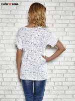 Biały t-shirt w serduszka z napisem MY SWEET HEART Funk 'n' Soul                                  zdj.                                  3