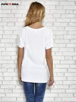 Biały t-shirt w serduszka z napisem THE CUTEST GIRL Funk 'n' Soul                                  zdj.                                  4