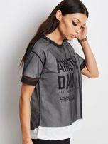 Biało-czarny t-shirt Citizen                                  zdj.                                  3