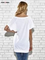 Biały t-shirt z lodowym nadrukiem Funk n Soul