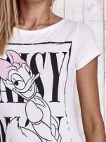Biały t-shirt z nadrukiem DAISY                                                                          zdj.                                                                         6