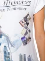 Biały t-shirt z nadrukiem Saint Tropez                                  zdj.                                  8