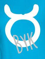 Bluza damska z motywem znaku zodiaku BYK turkusowa                                  zdj.                                  2