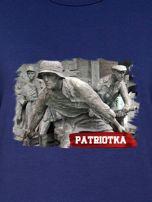Bluza damska patriotyczna PATRIOTKA z nadrukiem granatowa                                  zdj.                                  2