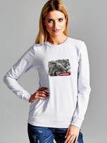 Bluza damska patriotyczna PATRIOTKA z nadrukiem jasnoszara