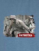 Bluza damska patriotyczna PATRIOTKA z nadrukiem niebieska                                  zdj.                                  2