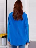Bluza damska z kolorowymi troczkami niebieska                                  zdj.                                  2
