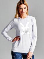 Bluza damska z motywem znaku zodiaku RYBY jasnoszara                                  zdj.                                  1