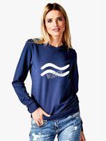 Bluza damska z motywem znaku zodiaku WODNIK granatowa                                  zdj.                                  1