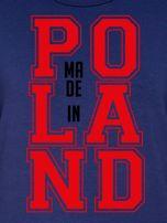 Bluza damska z nadrukiem MADE IN POLAND granatowa                                  zdj.                                  2