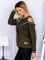 Bluza damska z ściągaczami khaki                                  zdj.                                  3