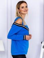 Bluza damska z ściągaczami niebieska                                  zdj.                                  3