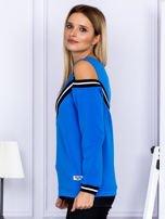 Bluza damska z ściągaczami niebieska                                  zdj.                                  5