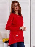 Bluza damska z serduszkami czerwona                                  zdj.                                  5