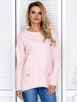 Bluza damska z serduszkami różowa                                  zdj.                                  1