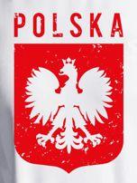 Bluza patriotyczna POLSKA z nadrukiem Orła Białego ecru                                  zdj.                                  2
