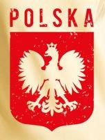 Bluza patriotyczna POLSKA z nadrukiem Orła Białego żółta                                  zdj.                                  2