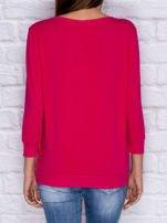 Bluza z kolorowymi naszywkami i napisem różowa                                  zdj.                                  2