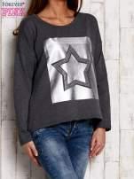 Bluza z motywem gwiazdy szara                                  zdj.                                  3