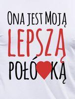 Bluzka biała męska dla par LEPSZA POŁÓWKA                                  zdj.                                  2